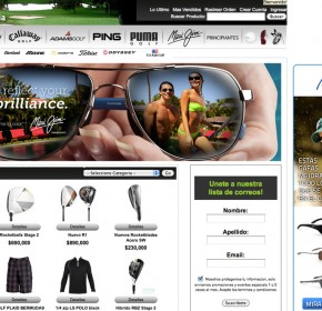 Golf Para Colombia.com Ecommerce brand launch